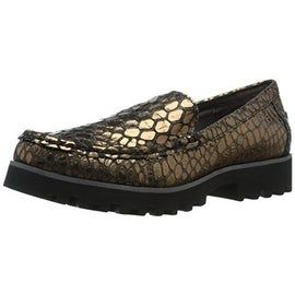 Donald J. Pliner Womens Rio 2 Leather Embossed Driving Moccasins - 9 medium (b,m)