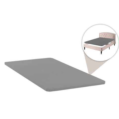 1.5-Inch Fully Assembled Bunkie Board For Mattress/Bed Support - Grey
