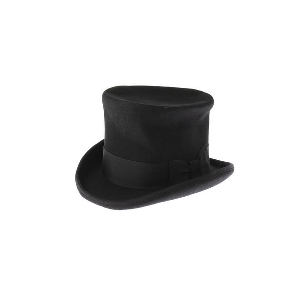 Shop Hats In The Belfry Mens Top Hat Wool Felt Bow Trim Ships To