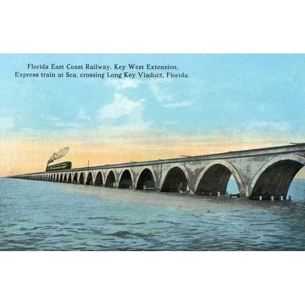 FL - Key West Extention - Vintage Halftone (100% Cotton Towel Absorbent)