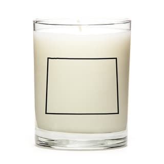 State Outline Candle, Premium Soy Wax, Wyoming, Lemon