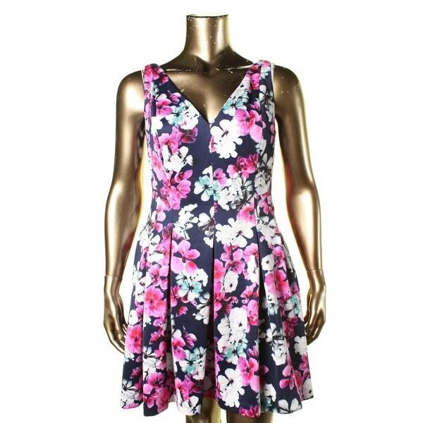 Lauren Ralph Lauren Womens Party Dress Floral Print Sleeveless