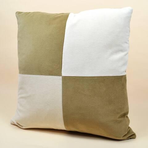 Jiti Large Checkered Modern Handmade Velvet Throw Pillow - 20 x 20