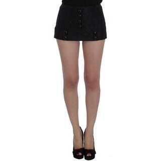 Dolce & Gabbana Dolce & Gabbana Black Jacquard Floral Shorts - it40-s