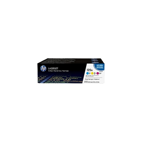 HP 125A Multi-Color 3 Original LaserJet Toner Cartridge (CE259A)(Single Pack)