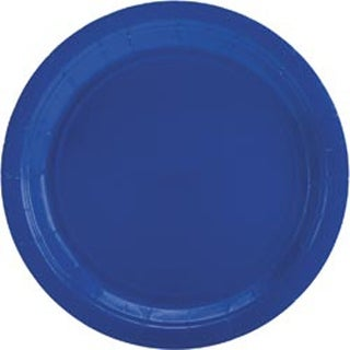 "Bright Royal Blue - Big Party Pack Dinner Plates 9"" 50/Pkg"