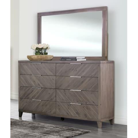 Abbyson Felix Chevron Dresser & Mirror