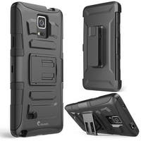Galaxy Note 4, i-Blason Prime Series Dual Layer Holster For Samsung Galaxy Note 4 with Kickstand-Black