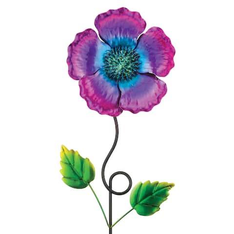 Garden Poppy Flower with Stake