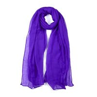 Long Warm Shawl Large Soft Solid Color Scarf for Women Men Dark Purple-3