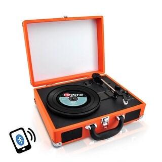 Pyle Bt Vintage Style Turntable Orange