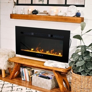 Link to PHI VILLA 30/36/40/48 inch Electric Fireplace, Recessed & Wall Mounted Electric Heater, Adjustable Flame Color, 1500W Similar Items in Fireplaces