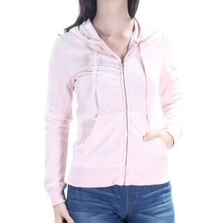 HIPPIE ROSE $22 Womens New 1229 Pink Pocketed Hoodie Jacket XS Juniors B+B