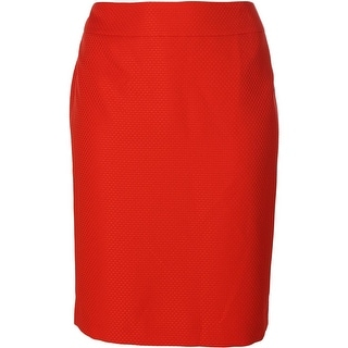 Kasper Womens Plus Textured Office Wear Pencil Skirt