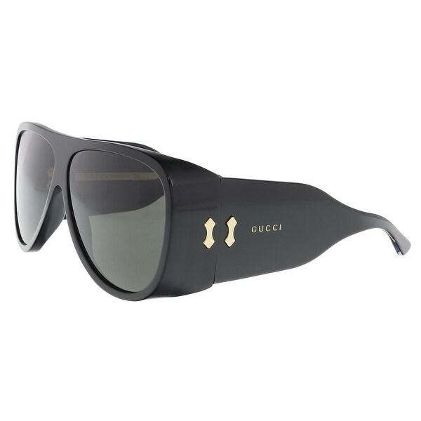 c11684e8319 Shop Gucci GG0149S-003 Black Aviator Sunglasses - 63-11-130 - Free ...