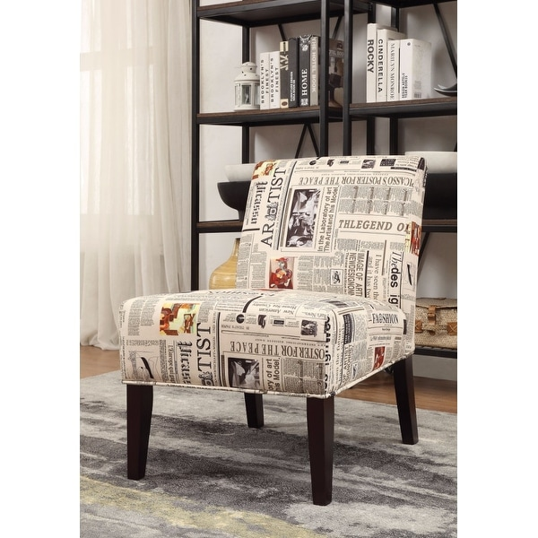 Accent Chair, Newspaper Print