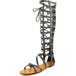 Vince Camuto Mesta Women Open Toe Leather Black Gladiator Sandal