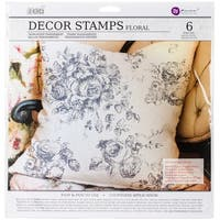 "Iron Orchid Designs Decor Clear Stamps 12""X12""-Floral"
