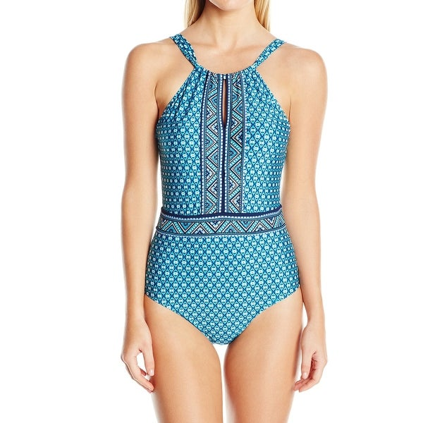 07bf133a8b5 Shop Jantzen Blue Womens Size 20W Plus Tummy Control One-Piece Swimsuit -  On Sale - Free Shipping Today - Overstock - 28113400