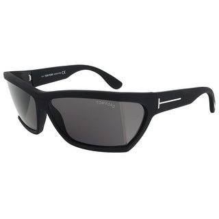 Tom Ford FT0401/S 02A Sasha Matter Black Rectangle Sunglasses
