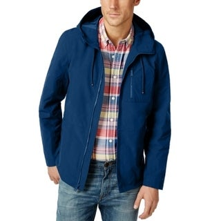 Tommy Hilfiger NEW Mountain Blue Mens Size Large L Windbreaker Jacket