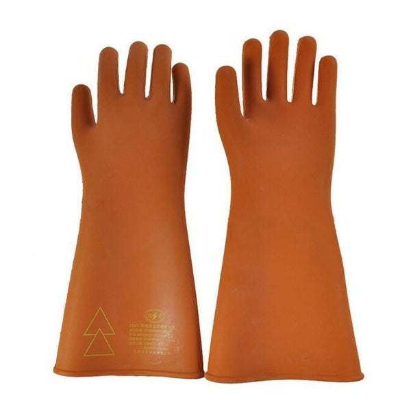 Work Protection Rubber Insulation Gloves - Brown - 2