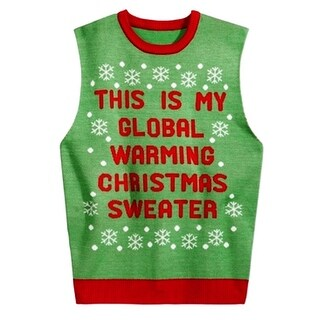 American Rag NEW Green Red Mens Size Large L Christmas Vest Sweater
