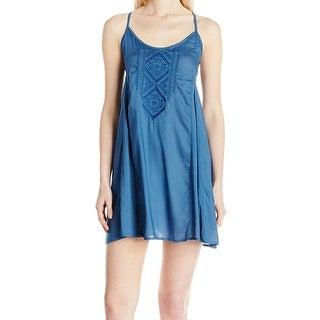 Billabong NEW Blue Size Medium M Junior Open Back Cover-Up Swimwear