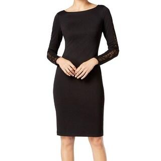 Catherine Malandrino NEW Black Womens Size 6 Lace-Back Sheath Dress