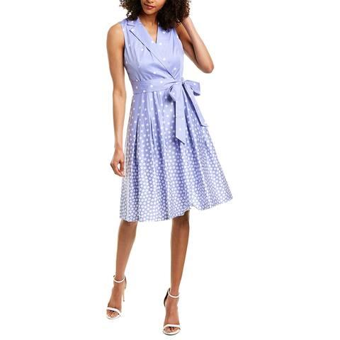 Anne Klein Going Dottie Wrap Dress
