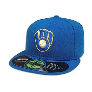 MLB Milwaukee Brewers Authentic On Field Game 59FIFTY Cap, Navy Blue