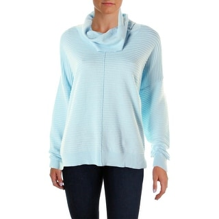 Calvin Klein Womens Long Sleeves Textured Funnel-Neck Sweater