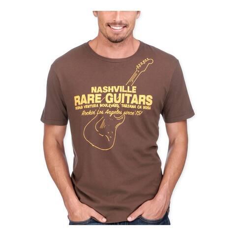 Lucky Brand Mens Nashville Fine Guitars Graphic T-Shirt