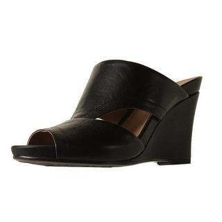 Naturalizer Womens Bankston Leather Slide Wedges