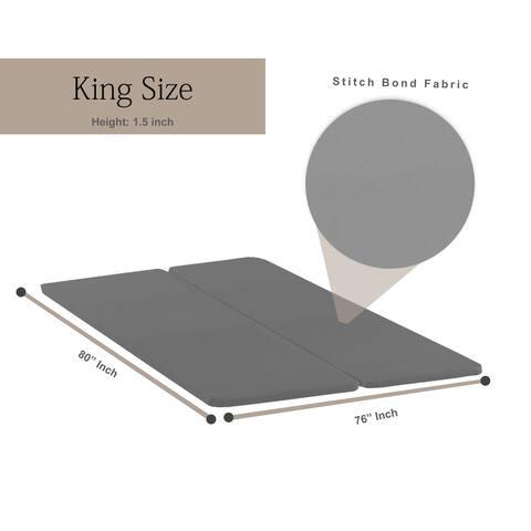 Onetan, 1.5-Inch Wood Split Bunkie Board/Slats,Mattress Bed Support,Fits Standard Bed Size,Grey
