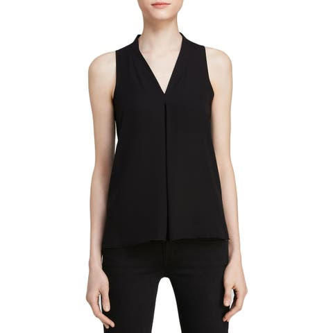 Vince Camuto Womens Tank Top V-Neck Pleated