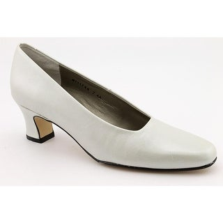 Ros Hommerson Vicki Women W Round Toe Patent Leather Ivory Heels