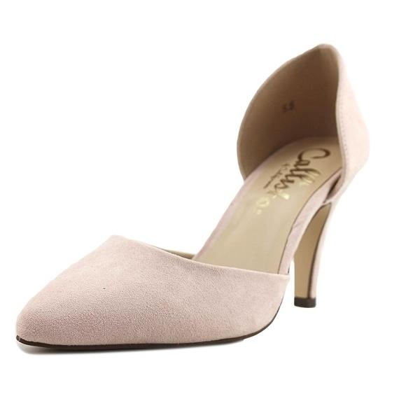 Callisto Felicitas Women Round Toe Suede Pink Heels