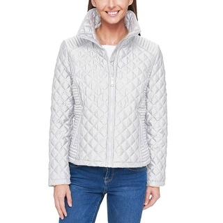 Andrew Marc New York Women Full Zip Quilted Jacket - White - Large