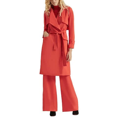 Halston Suiting Trench Coat