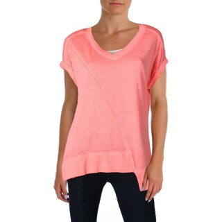 Calvin Klein Performance Womens Pullover Top Asymettrical-Hem Active (Option: Lava - XS)