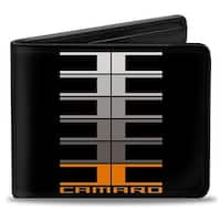 Camaro Performance 01 Camaro W  C Black Gray Orange Bi Fold Wallet - One Size Fits most