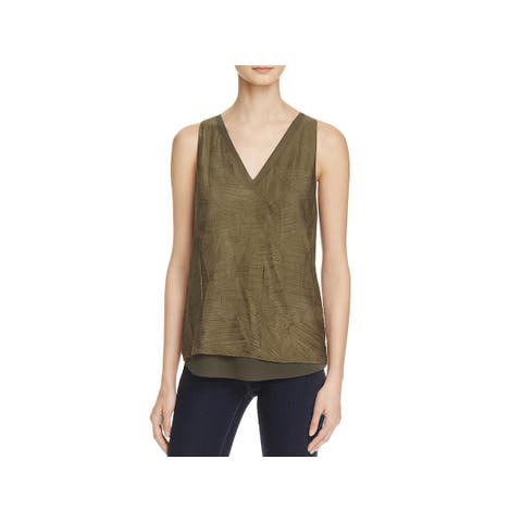 Cooper & Ella Womens Tank Top Double V Textured