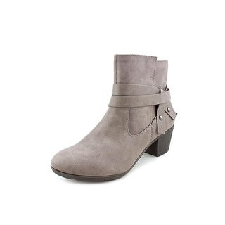 Style & Co Joeyy Women Round Toe Synthetic Gray Ankle Boot