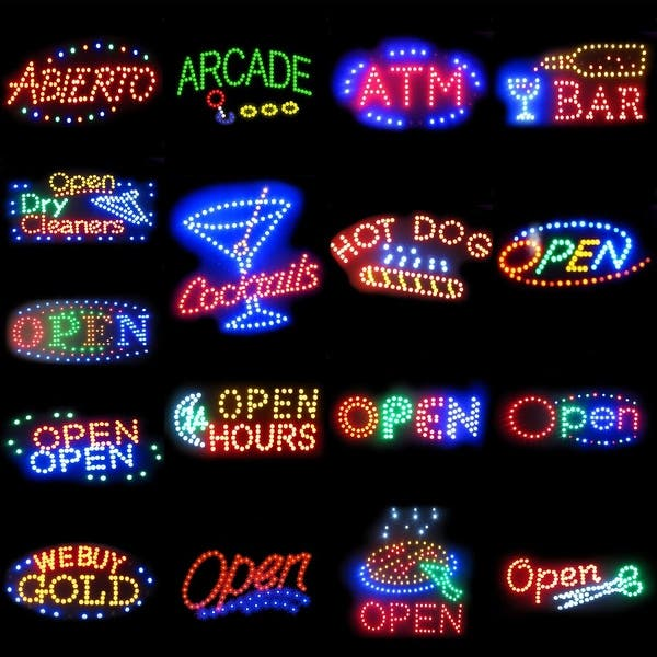 (Retired) 2xhome Pizza Multi-Color LED Restaurant, Business, And Store Sign  with Animation Effects & Motion