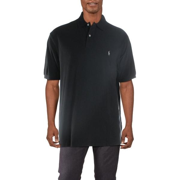 Polo Ralph Lauren Mens Big & Tall Polo Shirt Cotton Classic Fit - Black