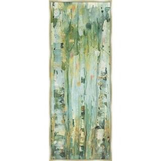 The Forest V, Framed Giclee Canvas Art - Green & Gold
