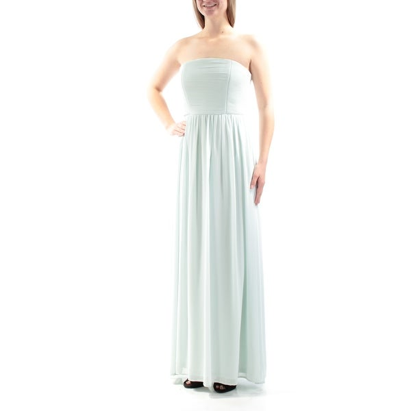 Shop XSCAPE Womens Green Ruched Strapless Maxi Empire Waist Formal Dress  Size  10 - Free Shipping Today - Overstock - 23458052 491aa94a8d7d