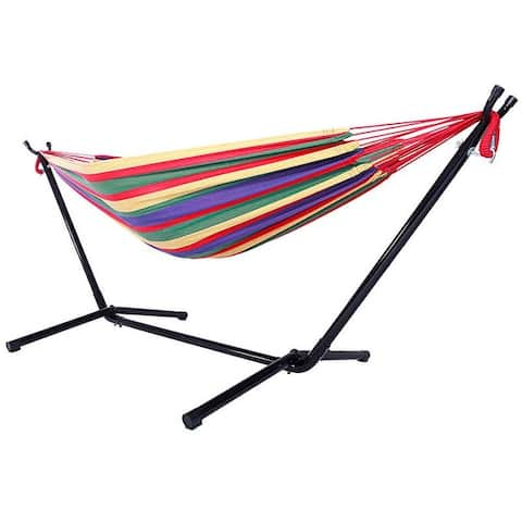 Shella 2-person Portable Garden Swing Hammock with Stand by Havenside Home