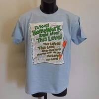 Funny Graphic Tee I'Ll Do My Homework After Youth Large L 14-16 Shirt 67Jg